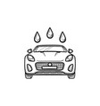 car wash hand drawn outline doodle icon vector image