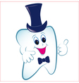 cartoon tooth with thumb vector image vector image