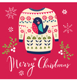 christmas with sweater vector image vector image