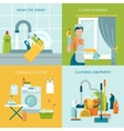 Colored Cleaning Icons Set vector image vector image