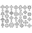 crosses thin line collection icons vector image vector image
