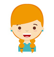 cute person design vector image