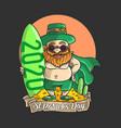 cute st patricks day character holiday vector image vector image
