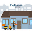 delivery service concept vector image