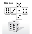 Dice template vector image