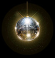 disco ball with bright rays vector image vector image