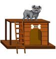 dog house with cute standing isolated vector image
