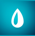 drop icon isolated on blue background vector image vector image