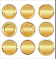 empty luxury golden badges collection vector image