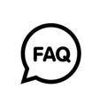 faq bubble question mark button icon vector image vector image