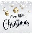 festive postcard merry white christmas greetings vector image vector image