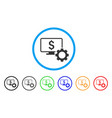 financial monitoring options rounded icon vector image