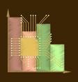 flat shading style icon nanotechnology vector image vector image