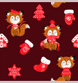 foxes in a scarf vector image