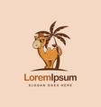 fun mascot cartoon camel logo icon vector image
