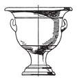 greek krater is a type of antique vase vintage vector image vector image
