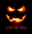 halloween poster with evil smile and inscription vector image vector image