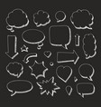 hand drawn set of speech bubbles and arrows white vector image
