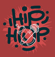hip hop lettering custom type design with a vector image vector image