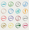 Industrial and logistic color icons vector image vector image