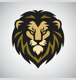 lion head mascot retro logo design art illu vector image vector image