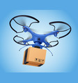 logistics post drone realistic composition vector image vector image