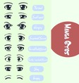 Manga Eyes vector image