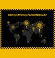 map novel coronavirus covid-19 vector image