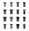 modern pillar designs vector image vector image