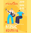 music hard bits summer festival poster with date vector image