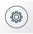 options icon line symbol premium quality isolated vector image