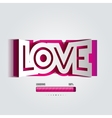 paper curved convex inscription love vector image vector image