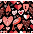 pattern of bright hearts vector image vector image