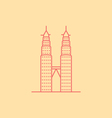 Petronas Twin Towers vector image