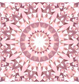 pink abstract seamless triangle mosaic tile vector image