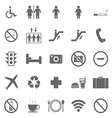 Plublic icons on white background vector image vector image