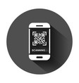 qr code scan phone icon in flat style scanner in vector image vector image
