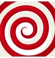 Red Hypnosis Spiral Pattern Optical vector image vector image