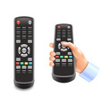 remote control tv isolated on white vector image vector image