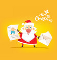 santa claus receive a letter of wish about toy vector image
