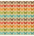 Seamless pattern with butterflies in retro style vector image vector image