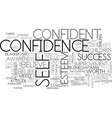 self-confidence word cloud concept vector image vector image