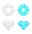 Set diamonds on a white background Eps 10 vector image