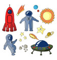 set space icons vector image vector image