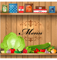 Shelves wooden3 vector image vector image