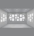 showroom art gallery empty museum room interior vector image vector image