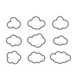Sky clouds silhouette cloud icon set