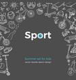 sport template doodle kid design vector image