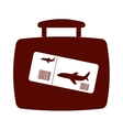 suitcase travel isolated icon vector image vector image