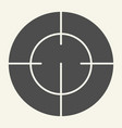 target solid icon focus vector image